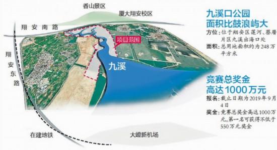 廈門面向國內外公開競標九溪口公園規劃方案
